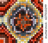 abstract mosaic pattern formed... | Shutterstock .eps vector #637010299