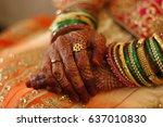 indian heavenly marriages  | Shutterstock . vector #637010830