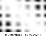 abstract halftone dotted... | Shutterstock .eps vector #637014244