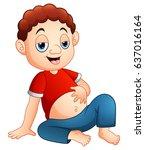vector illustration of cartoon... | Shutterstock .eps vector #637016164