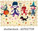 halloween crew | Shutterstock .eps vector #637017739