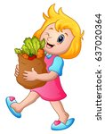 vector illustration of cartoon... | Shutterstock .eps vector #637020364