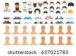 avatar constructor. choose... | Shutterstock .eps vector #637021783