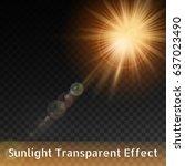 transparent sunlight special... | Shutterstock .eps vector #637023490