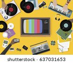 retro music entertainment media ...