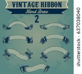 vintage ribbon vector collection | Shutterstock .eps vector #637038040