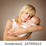 mother and baby  mom with... | Shutterstock . vector #637040614
