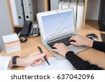 details on the hands of a... | Shutterstock . vector #637042096