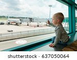 little baby boy waiting... | Shutterstock . vector #637050064