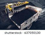 coal mining at an open pit | Shutterstock . vector #637050130