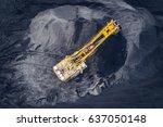 coal mining at an open pit | Shutterstock . vector #637050148