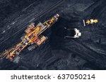 coal mining at an open pit | Shutterstock . vector #637050214