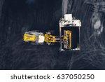 coal mining at an open pit | Shutterstock . vector #637050250