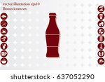 bottle icon vector illustration ...