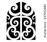tattoo maori vector designs... | Shutterstock .eps vector #637052884