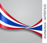 thai flag wavy abstract... | Shutterstock .eps vector #637057123