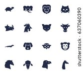 set of 16 alive icons set... | Shutterstock .eps vector #637060390