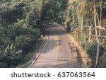 asian men are cycling road bike ... | Shutterstock . vector #637063564