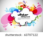 rainbow colored swirly... | Shutterstock . vector #63707122