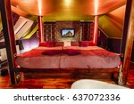 luxury hotel room in thai style | Shutterstock . vector #637072336