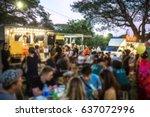 food truck festival blurred on... | Shutterstock . vector #637072996
