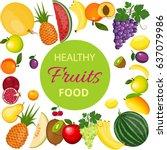 fresh organic food  healthy... | Shutterstock . vector #637079986