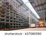 distribution warehouse on high... | Shutterstock . vector #637080580