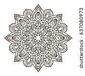 mandala. ethnic decorative...   Shutterstock .eps vector #637080973