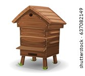Wood Hive For Bees ...