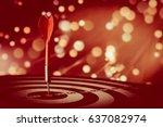 goals to achievement as concept.... | Shutterstock . vector #637082974