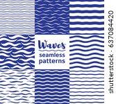 set of vector seamless patterns ... | Shutterstock .eps vector #637084420