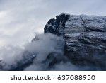 mountain with clouds in winter | Shutterstock . vector #637088950