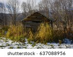old storage farmhouse | Shutterstock . vector #637088956