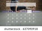 calendar agenda appointment... | Shutterstock . vector #637090918