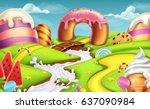 sweet landscape 3d vector... | Shutterstock .eps vector #637090984