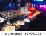 authentic buffet  assorted... | Shutterstock . vector #637091716