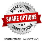 share options round isolated... | Shutterstock .eps vector #637095964
