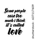 handwritten lettering positive... | Shutterstock .eps vector #637117609