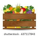 healthy freshly harvested... | Shutterstock . vector #637117843