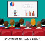 businessmen sitting on chair... | Shutterstock . vector #637118074