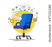 concept of business hiring and... | Shutterstock .eps vector #637121260