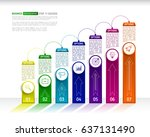 stairs infographic design... | Shutterstock .eps vector #637131490