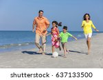 a happy family of mother ... | Shutterstock . vector #637133500