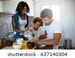 portrait of african american... | Shutterstock . vector #637140304