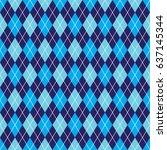 seamless blue argyle pattern...   Shutterstock .eps vector #637145344