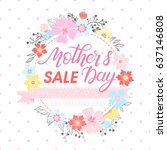 mothers day special offer.... | Shutterstock .eps vector #637146808