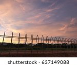 sunset and sunrise sky. | Shutterstock . vector #637149088