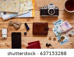 the concept of tourism. on a... | Shutterstock . vector #637153288