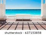 White Bench On The Promenade...
