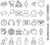 set of vector icons on the...